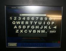 Virtual key board screen on our hire jukeboxes1 Jukebox Hire
